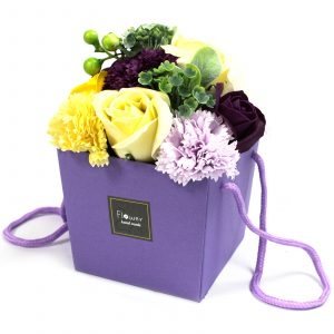 1x Soap Flower Bouquet – Purple Flower Garden