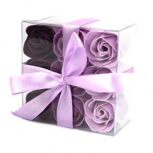 1x Set of 9 Soap Flower – Lavender Roses