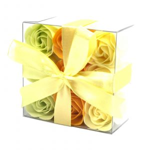 1x Set of 9 Soap Flowers- Spring Roses