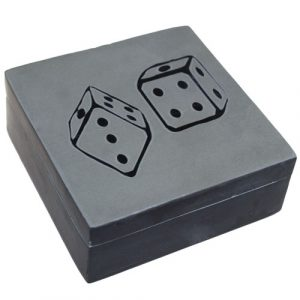 Lucky Stone Box – Two Dice