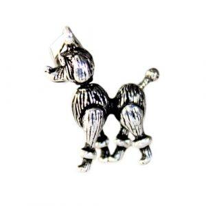 Silver Poodle Dog Pendant