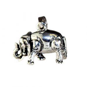 Silver Lrg Elephant Pendant