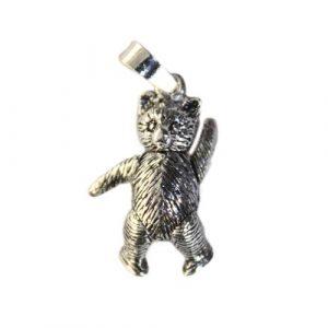 Silver Teddy Bear Pendant