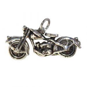 Silver Motorbike Pendant