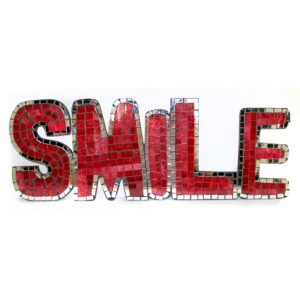 Mosaic Word – Smile (Red)