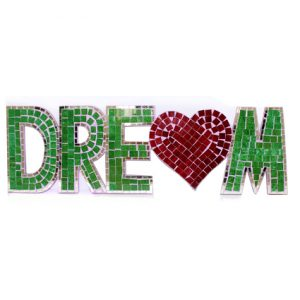 Mosaic Word – Dream (with heart)