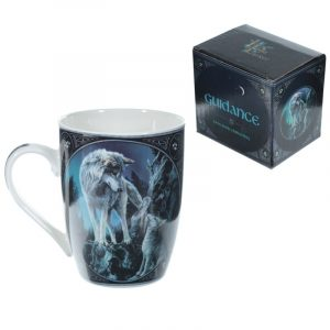 Lisa Parker Guidance Wolf Design New Bone China Mug