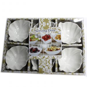 Set of Six Leaf Shape Olive Dishes