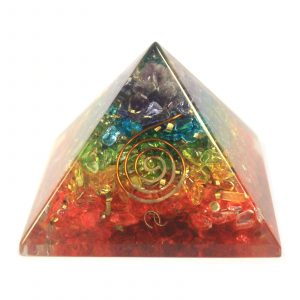 Lrg Orgonite Pyramid 70mm – Chakra Gemchips