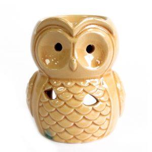 Large Honey Owl Oil Burner