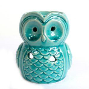 Large Blue Owl Oil Burner