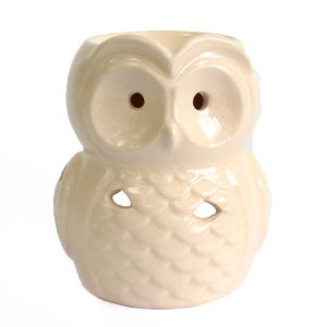 Large Ivory Owl Oil Burner