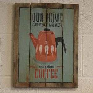 Wooden Coffee Sign – Our Home