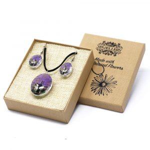 Pressed Flowers – Tree of Life set – Lavender