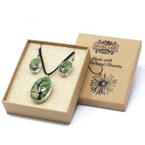 Pressed Flowers – Tree of Life set – Green