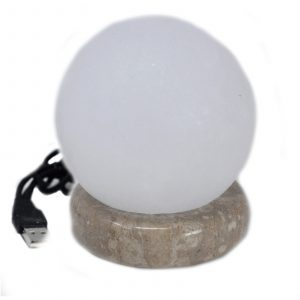 Quality USB Ball WHITE Salt Lamp – 9 cm (multi)