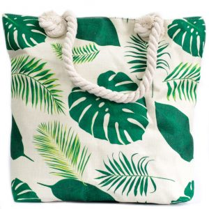 Rope Handle Bag – Tropical Greens