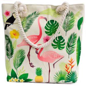 Rope Handle Bag – Flamingo & More