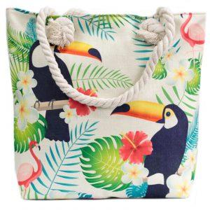Rope Handle Bag – Tropical Toucan