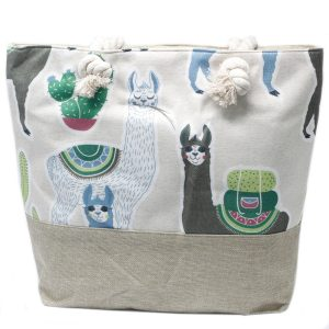 Rope Handle Bag – Llamas