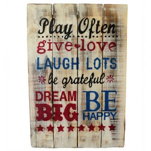 Rough Wooden Sign – Play Often