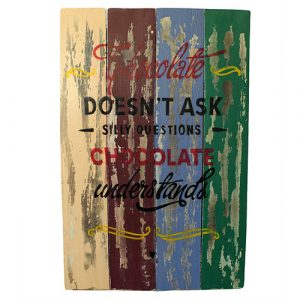 Rough Wooden Sign – Chocolate