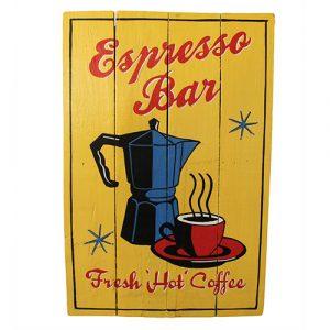 Rough Wooden Sign – Espresso Bar
