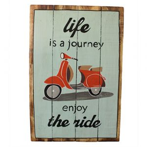 Rough Wooden Sign – Life's a Journey