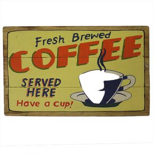 Rough Wooden Signs – Fresh Coffee