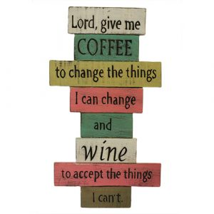 Rough Wooden Sign – Lord Give Me Coffee