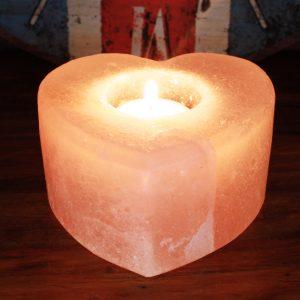 Salt Candle Holder – Heart
