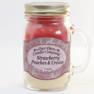Scented Candle Jar – Strawberry Peach & Cream