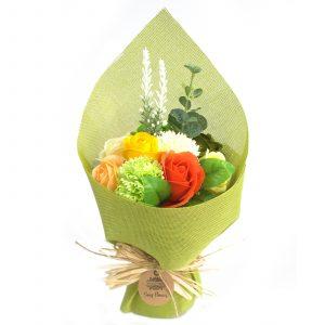 Standing Soap Flower Bouquet – Green Yellow
