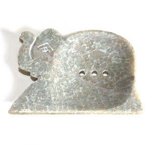 Large Soapstone Dish – Elephant