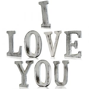Shabby Chic Letters – I LOVE YOU