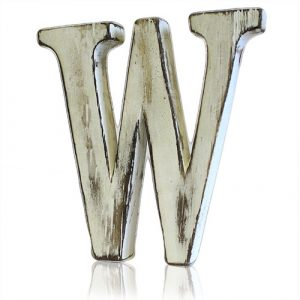 Shabby Chic Letter – W