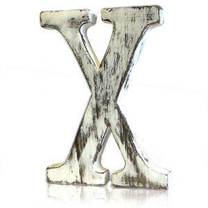 Shabby Chic Letter – X