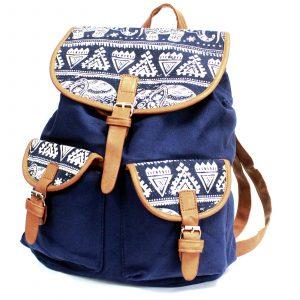 Traveller Backpacks – 2 Pocket Blue Elephant
