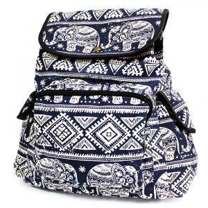Traveller Backpacks – 3 Pocket Blue Elephant