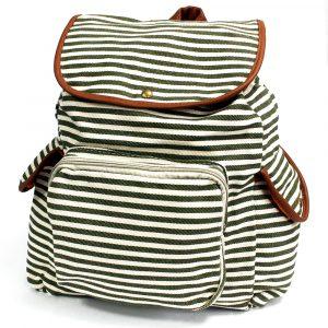 Traveller Backpacks – 3 Pocket Olive Stripe