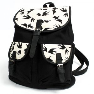 Traveller Backpacks – 2 Pocket Black Swallows