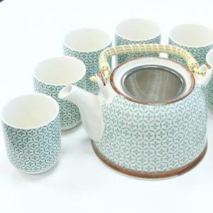 Herbal Teapot Set – Green Mosaic