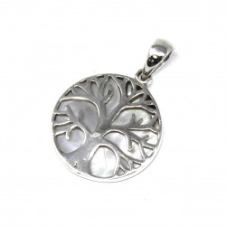Tree of Life Silver Pendant 22mm – Mother Of Pearl