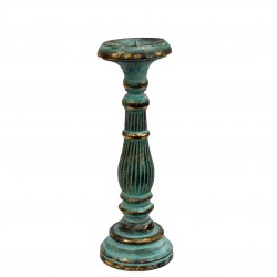 Medium Candle Stand – Turquoise & Gold