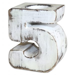 Wooden Birthday Number Candle Holder – No. 5