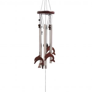 Classic Wood and Tube Chime – Dolphins