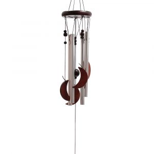 Classic Wood and Tube Chime – Moon