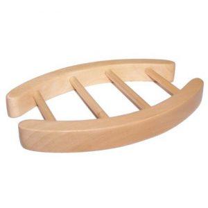 Hemu Wood Soap Dish – Oval