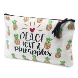 Classic Zip Pouch – Pineapples