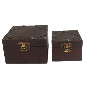 Set of 2 Gothic Square Boxes